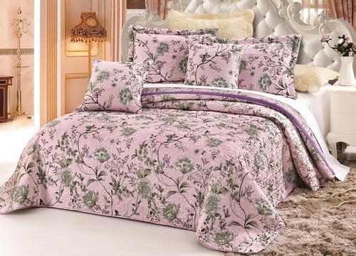 Покрывало с наволочками Madeira бежево-розовый
