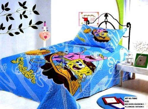 Детское покрывало с наволочкой SpongeBob 2