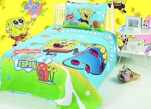 Детское покрывало с наволочкой SpongeBob