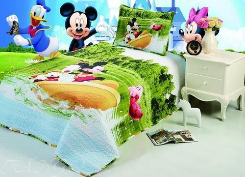 Детское покрывало с наволочкой Mickey Mouse