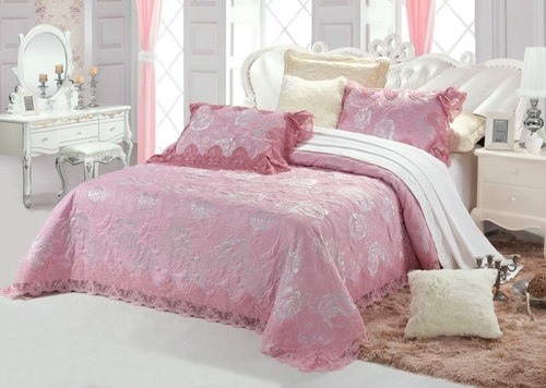 Покрывало с наволочками Blumarina розовый