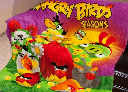 Детский плед Angry Birds