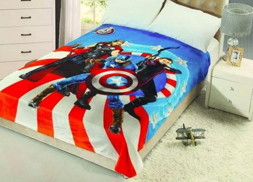 Детский плед Captain America