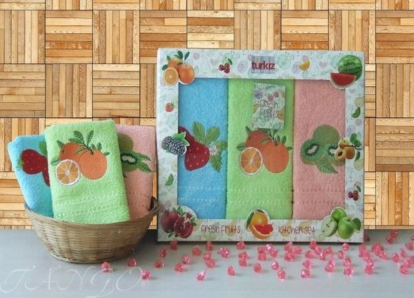 Набор кухонных полотенец Turkiz Fruits V2