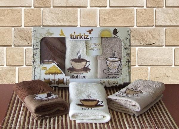 Набор кухонных полотенец Turkiz Coffee V4
