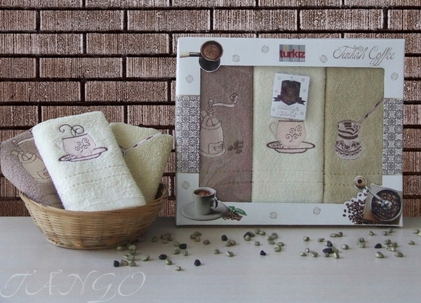 Набор кухонных полотенец Turkiz Coffee V2
