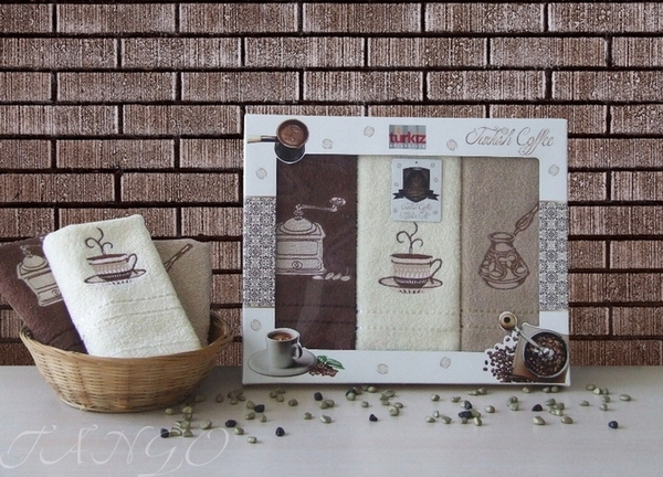 Набор кухонных полотенец Turkiz Coffee V1