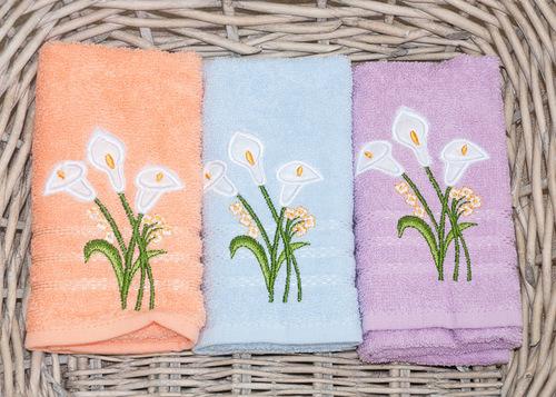 Набор кухонных полотенец Turkiz Flowers V1