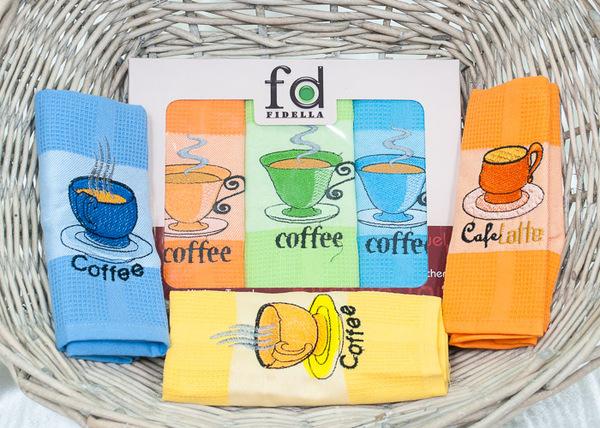 Набор кухонных полотенец Fidella Coffee V2