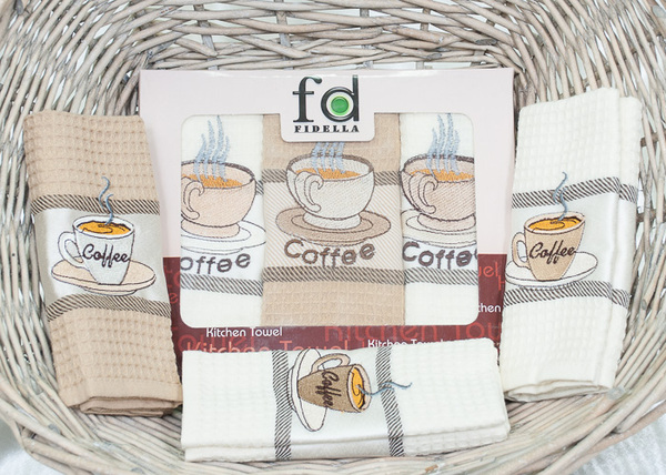 Набор кухонных полотенец Fidella Coffee V1