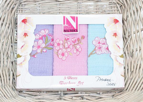 Набор кухонных полотенец Nilteks Flowers
