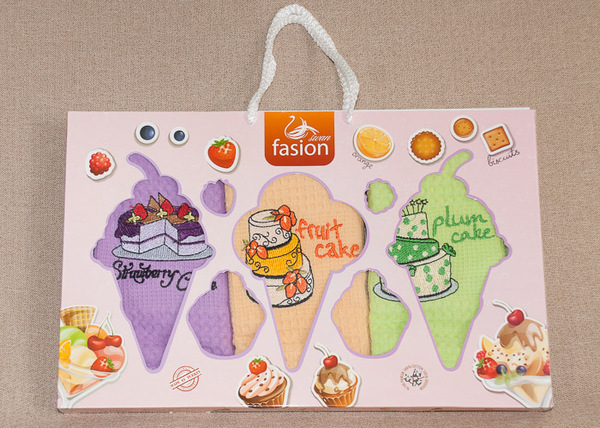 Набор кухонных полотенец Fasion Cakes