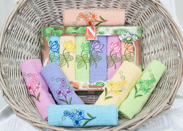 Набор вафельных полотенец Nilteks Flowers