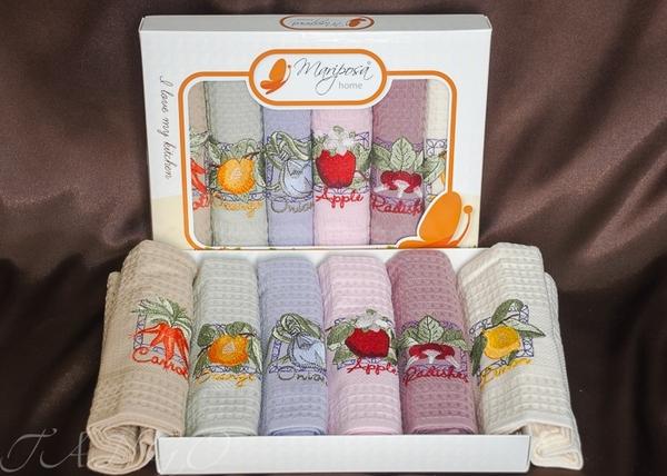 Набор вафельных полотенец Nilteks Fruits V2