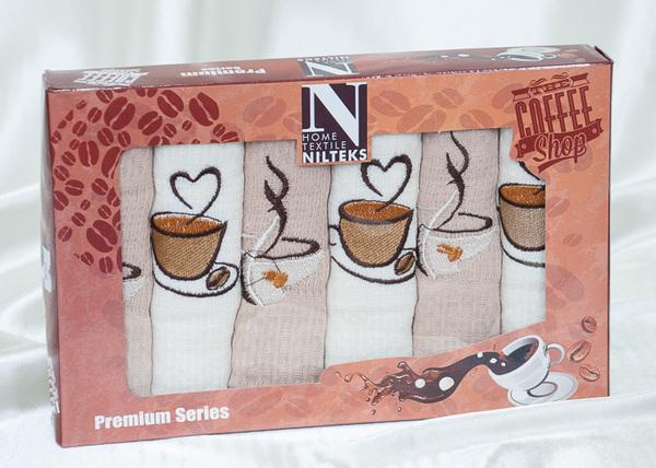 Набор вафельных полотенец Nilteks Coffee V2