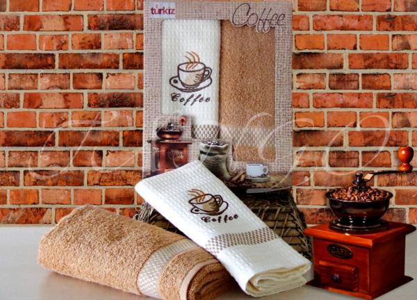 Набор полотенец Turkiz Coffee V4