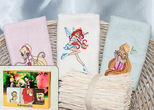 Набор махровых полотенец Winx