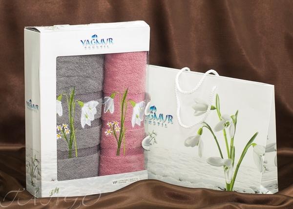 Набор полотенец Yagmur V11 Grey/Pink