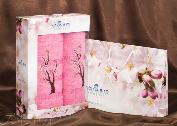 Набор полотенец Yagmur V10 Pink