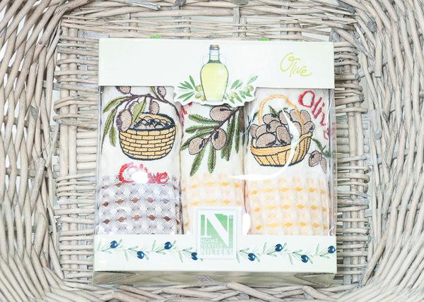 Набор кухонных полотенец Nilteks Olive V1