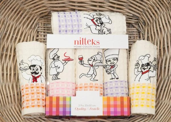 Набор вафельных полотенец Nilteks Cooks