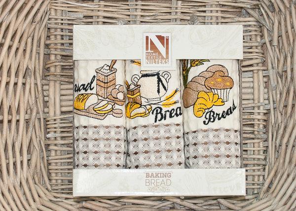 Набор кухонных полотенец Nilteks Bread V2