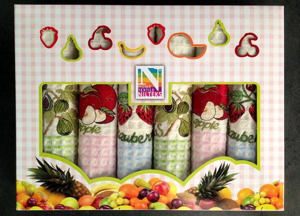 Набор вафельных полотенец Nilteks Fruits V4