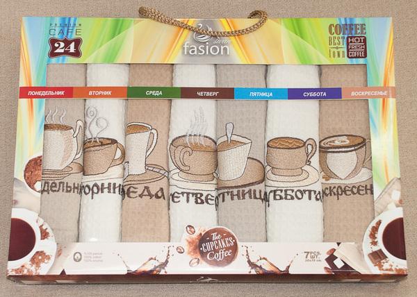Набор вафельных полотенец Nilteks Week Coffee