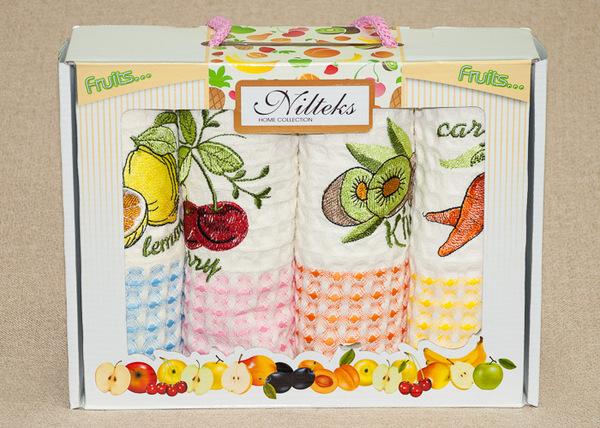 Набор вафельных полотенец Nilteks Fruits V1