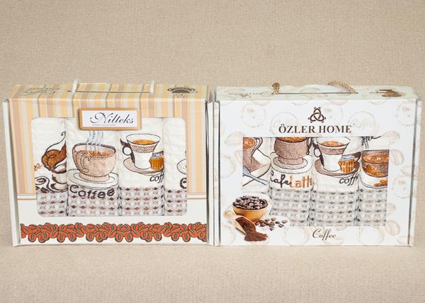 Набор вафельных полотенец Nilteks Coffee V1