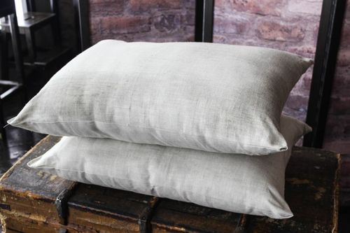 Натуральная льняная подушка 50х70 см