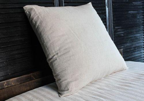 Натуральная льняная подушка 70х70 см
