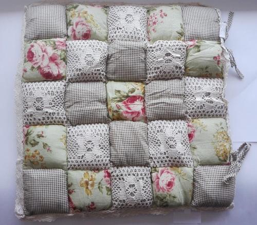 Подушка для стула 40х40 Пэчворк дизайн 15