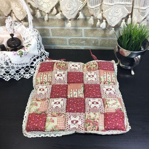Подушка для стула 40х40 Пэчворк дизайн 20