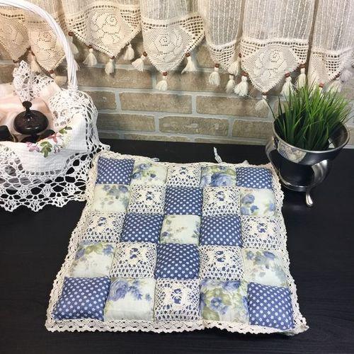 Подушка для стула 40х40 Пэчворк дизайн 22