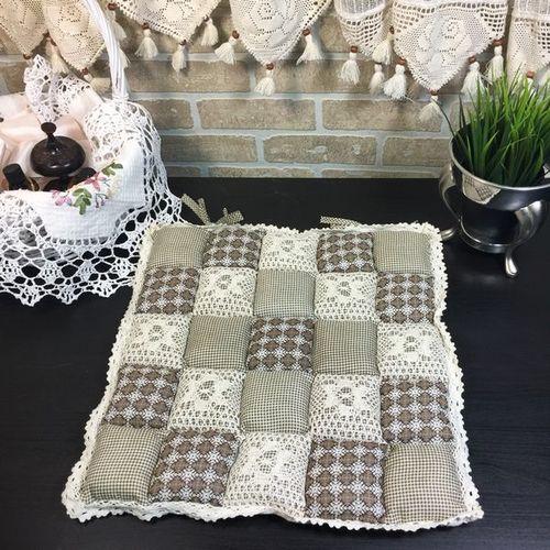 Подушка для стула 40х40 Пэчворк дизайн 23
