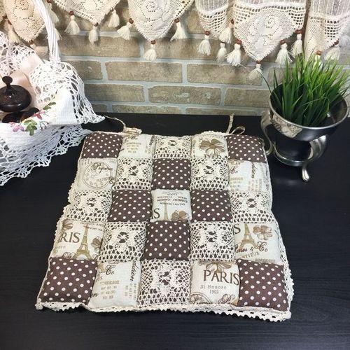 Подушка для стула 40х40 Пэчворк дизайн 25