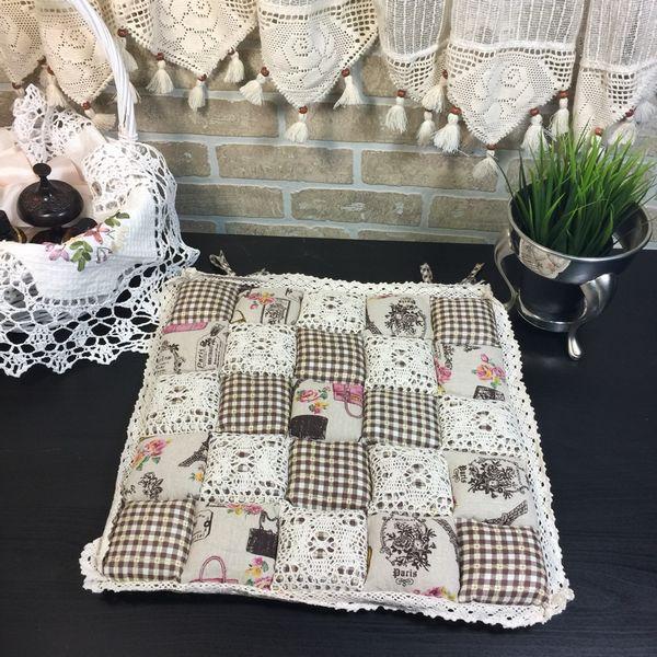 Подушка для стула 40х40 Пэчворк дизайн 26