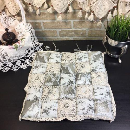 Подушка для стула 40х40 Пэчворк дизайн 27