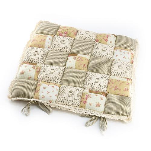 Подушка для стула 40х40 Пэчворк дизайн 9