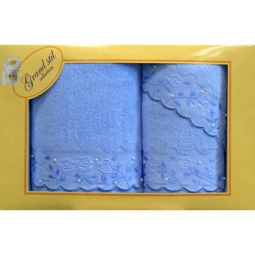 Набор полотенец Grand Stil Жемчужное голубой