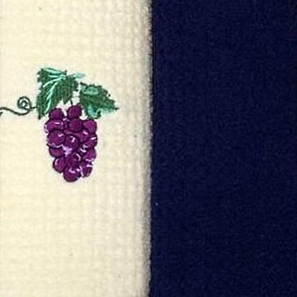 Набор полотенец Grand Stil Виноград синий (без коробки)