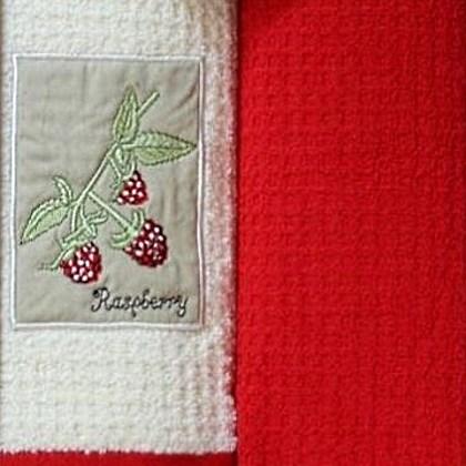 Набор полотенец Grand Stil Малина аппликация (без коробки)