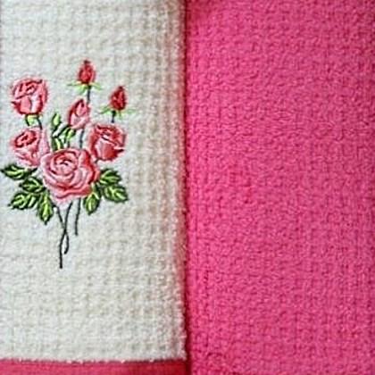 Набор полотенец Grand Stil Цветник Роза (без коробки)