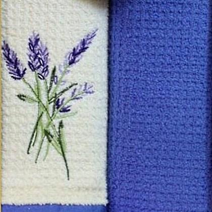 Набор полотенец Grand Stil Цветник Лаванда (без коробки)