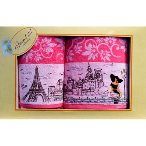 Набор полотенец Grand Stil Париж розовый
