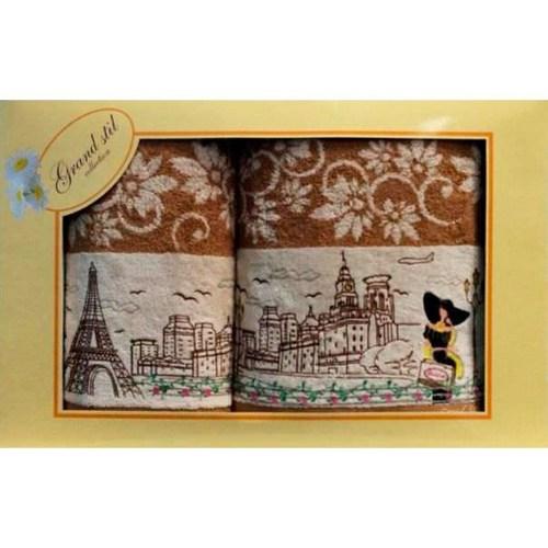 Набор полотенец Grand Stil Париж коричневый