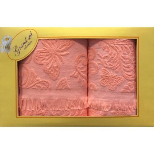 Набор полотенец Grand Stil Бабочка коралл