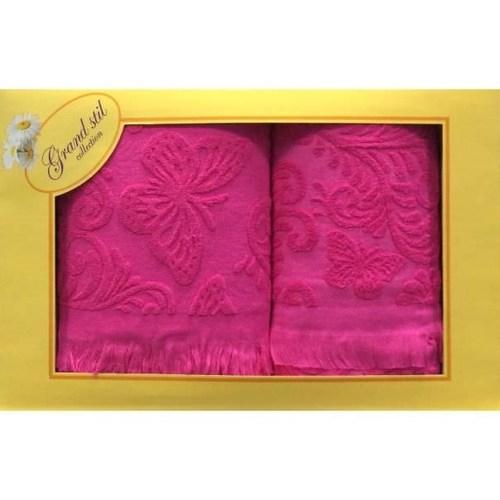 Набор полотенец Grand Stil Бабочка розовый