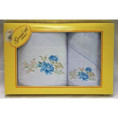 Набор полотенец Grand Stil Виола голубой